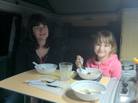 Breakfast in the van